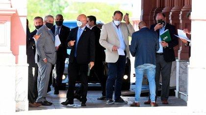 La reunión con el campo se llevó a cabo en el despacho presidencial en la Casa Rosada (Maximiliano Luna)