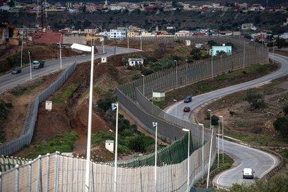 El muro que separa Ceuta de Melilla (Getty Images)