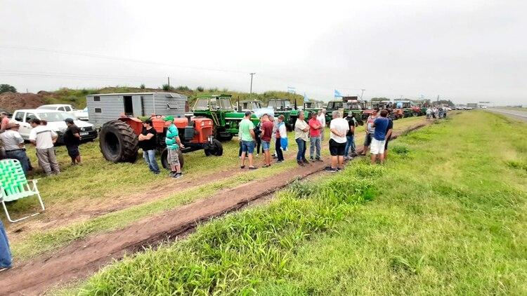 Autoconvocados en San Nicolás en rechazo al aumento de las retenciones a las exportaciones de granos
