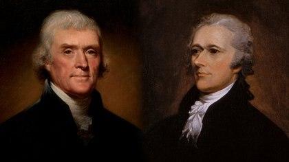 Thomas Jefferson y Alexander Hamilton