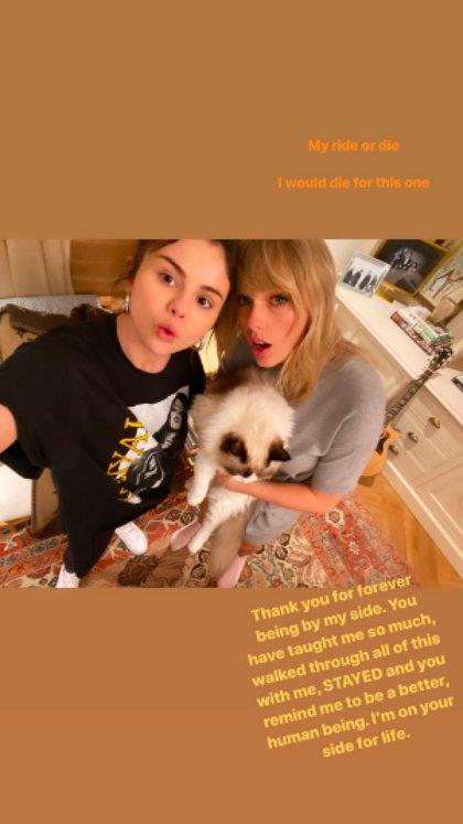 Historia de Selena Gomez con Taylor Swift (Foto: Instagram)
