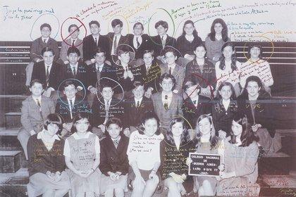 """""""La clase"""", la foto más famosa de Brodsky."""