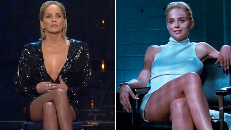 A los 61 años, Sharon recreó la famosa escena de los 90