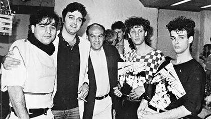 Los Soda en la presentación de su disco debut en un local de Pumper Nic