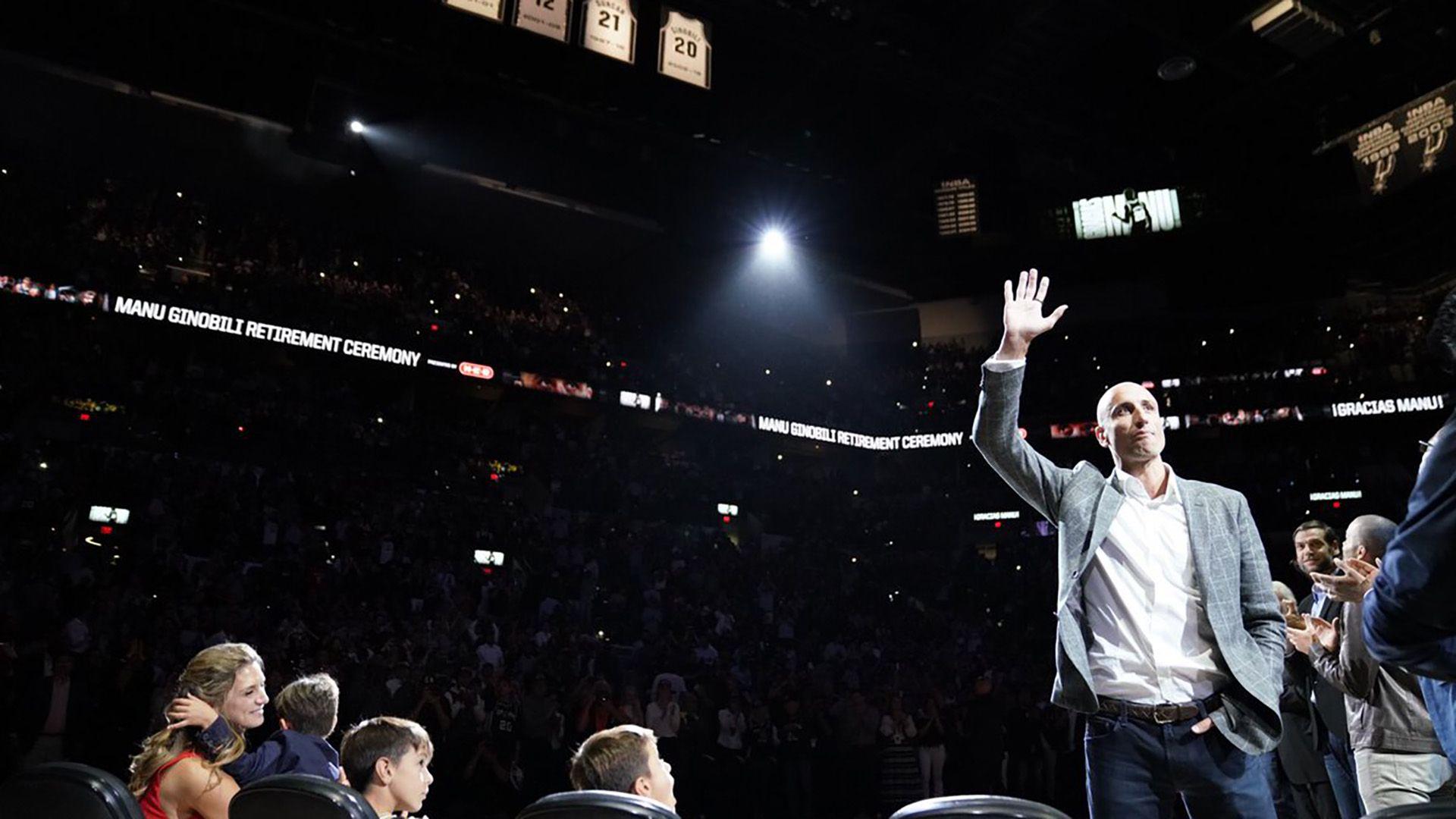 Manu Ginóbili, una de ls grandes figuras internacionales en la historia de la NBA (@spurs)