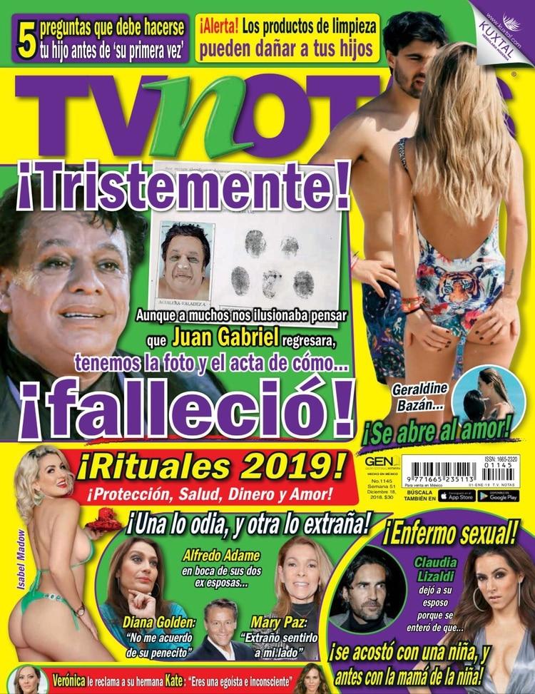 Portada de la revista TV Notas del martes 18 de diciembre.