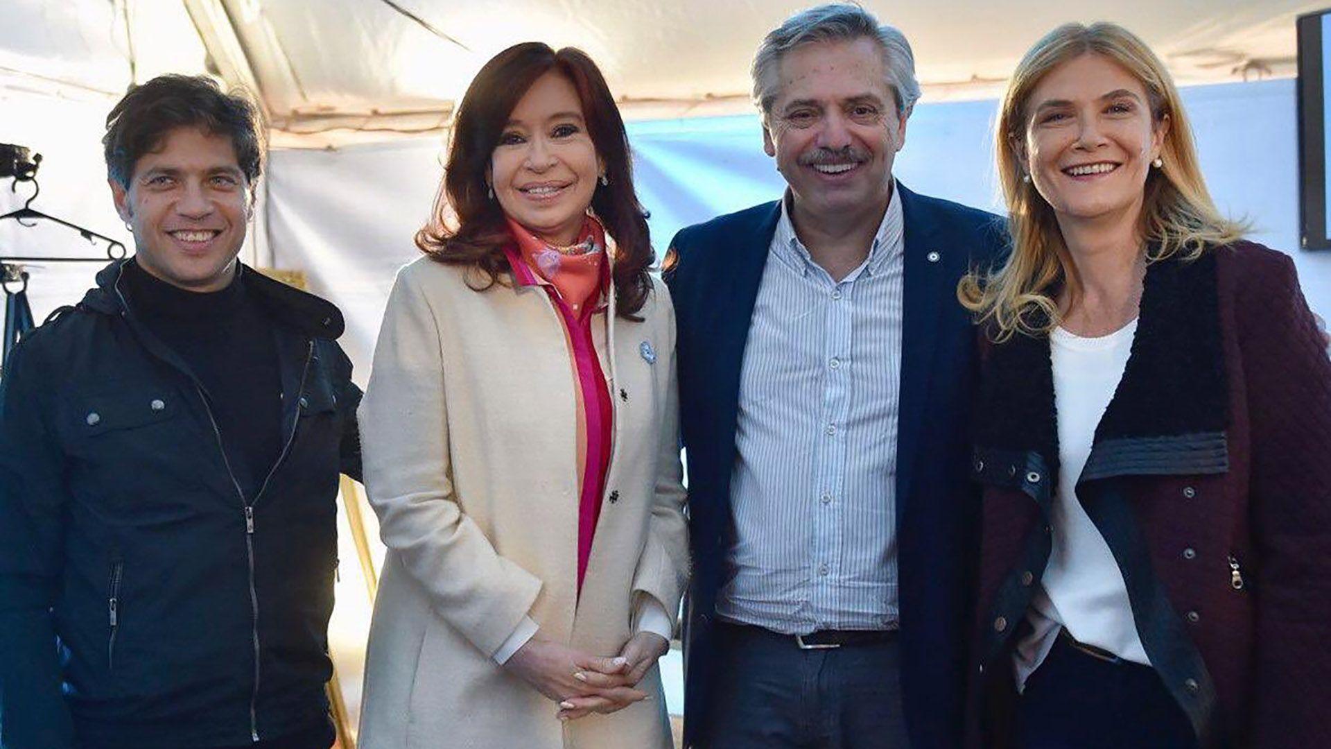 Axel Kicillof, Cristina Fernández, Alberto Fernández y Verónica Magario, las cuatro piezas clave del peronismo K