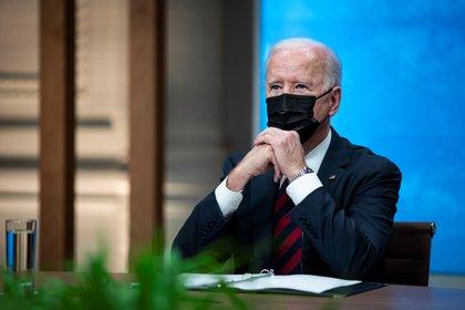El presidente Joe Biden apoyó la liberación de patentes de las vacunas (EFE/AL DRAGO/Archivo)