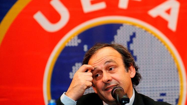 El francés Michel Platini fue presidente de la UEFA entre 2007 y 2015(EFE)