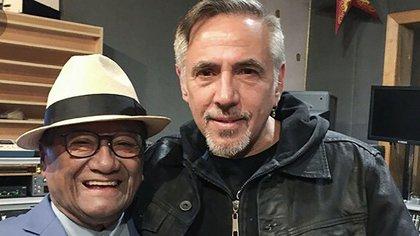 Alejandro Lerner junto a Armando Manzanero.