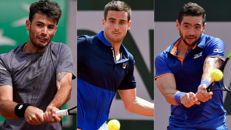 Lóndero, Pella y Andreozzi se presentaron en la segunda jornada de Roland Garros (EFE-AFP)