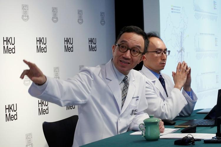 Gabriel Leung, catedrático de salud pública en la Universidad de Hong Kong (HKUMed), habla del alcance del virus (Reuters)