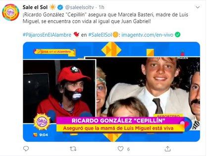 Cepillín está seguro de que Marcela Basteri vive
