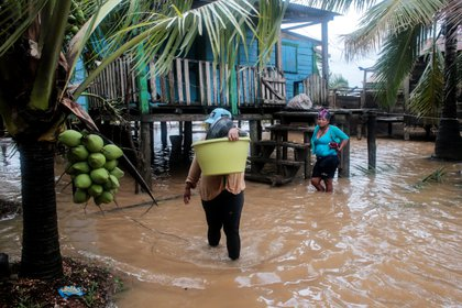 El huracán provocó inundaciones (REUTERS/Oswaldo Rivas)