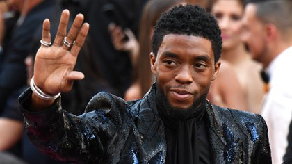 "(FILES) In this file photo taken on February 24, 2019 US actor Chadwick Boseman arrives for the 91st Annual Academy Awards at the Dolby Theatre in Hollywood. - Chadwick Boseman, the star of the ground-breaking superhero movie ""Black Panther,"" has died from colon cancer, his publicist told AFP August 28.