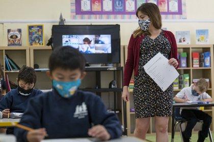Escena de un salón de clases en los Estados Unidos. Foto: Bloomberg