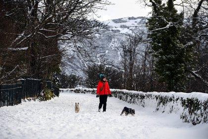 Las temperaturas más bajas se registraron en Escocia (Andy Buchanan / AFP)