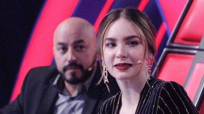"""Lupillo y Belinda se conocieron durante su trabajo en """"La Voz"""" (IG: lavozazteca)"""