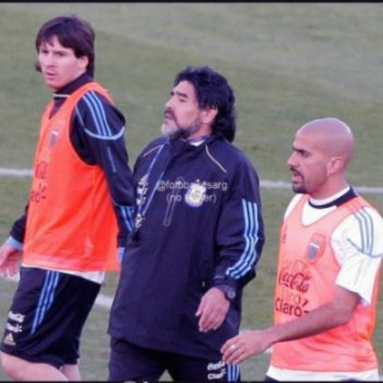 También compartieron el Mundial de Sudáfrica en 2010, con Lionel Messi
