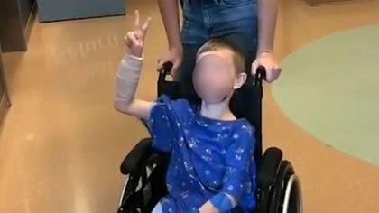 Cody tuvo que ser sometido a una nueva cirugía para extirparle una tercera bala que ten{ia alojada a al altura de la cadera (Foto: Captura de pantalla)