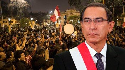 Martín Vizcarra, presidente de Perú, recibió manifestaciones de apoyo tras su decisión de disolver el Parlamento