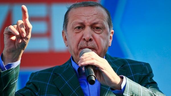 Recep Erdogan, el presidente turco (AP)