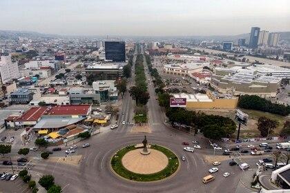 Foto aérea de Tijuana, donde existen 146 casos confirmados de COVID-19 y 8 defunciones (Foto: Guillermo Arias/AFP)