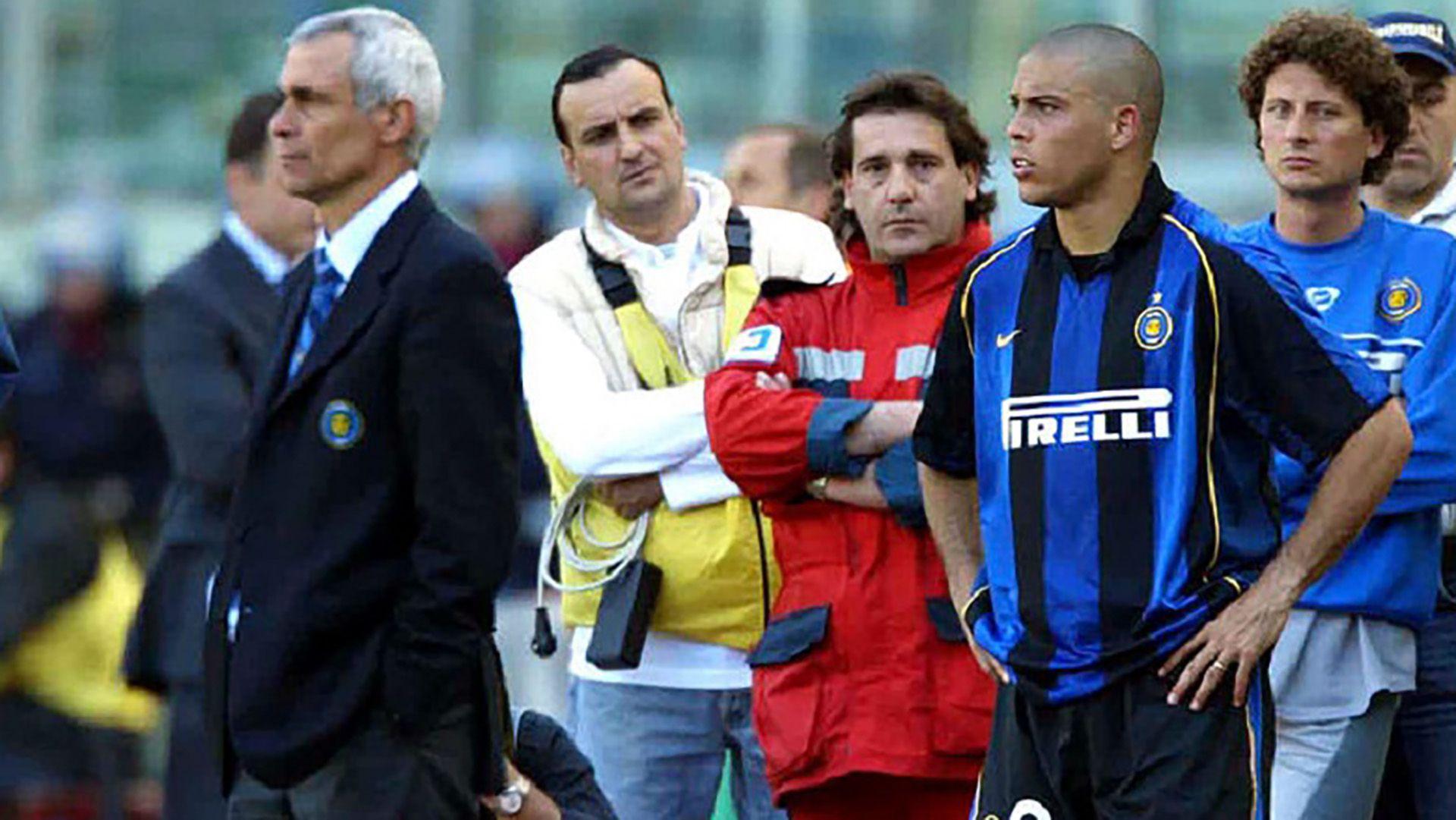 Cuando fue entrenador del Inter tuvo un conflicto con Ronaldo Nazario.