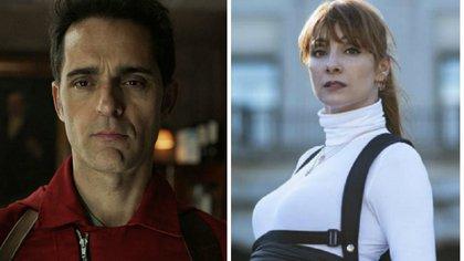 """Según la publicación de un usuario en Reddit, Tatiana, el amor verdadero de Berlín, y la inspectora Sierra, serían la misma persona (Foto: Netflix/ """"La casa de papel"""")"""