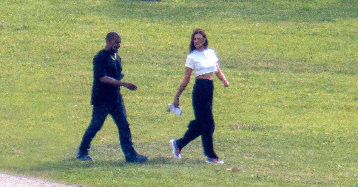 Las primeras imágenes de Kanye West con Irina Shayk en su escapada romántica a Francia - Infobae