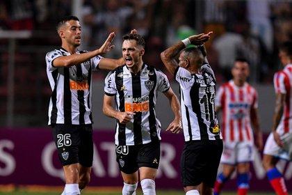 En la imagen, un registro de otra actuación de los jugadores de Atlético Mineiro. EFE/Yuri Edmundo/Archivo
