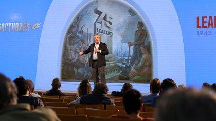 Alberto Fernández en el acto del 17 de octubre en la CGT