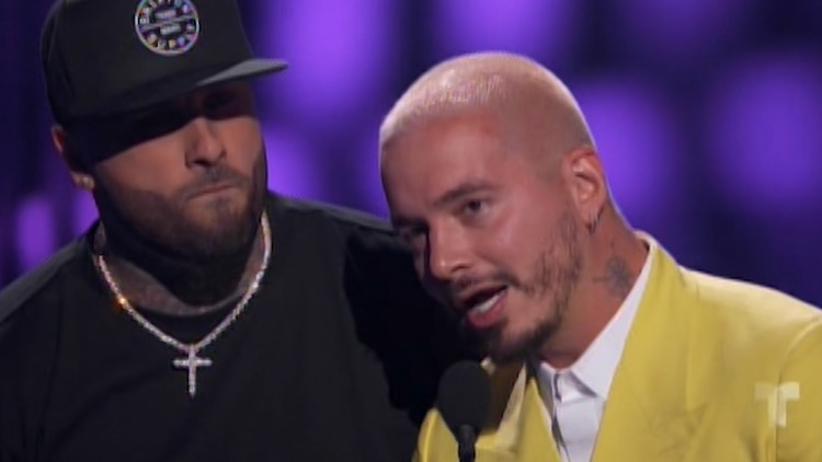 Nicky Jam y J Balvin (Captura: NBC/Telemundo/Latin Billboards)