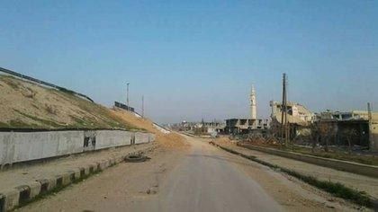 Una imagen tomada por las tropas sirias durante el reingreso a la ciudad tras la huída del ISIS (AlmasdarNews)