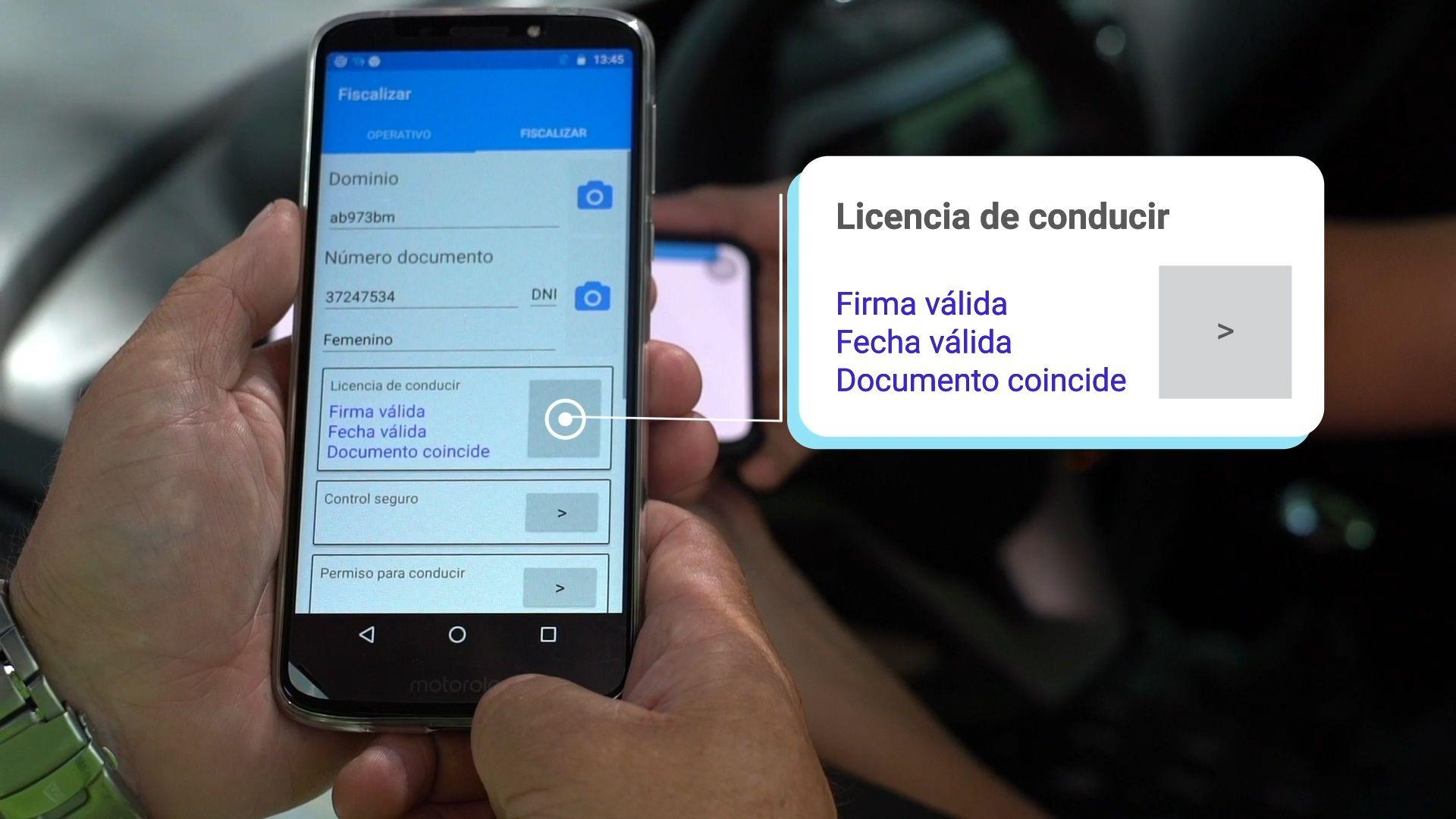 La licencia digital se verá en el celular y desde allí podrá ser fiscalizada por las autoridades competentes.
