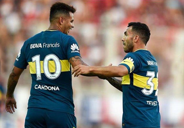 Cardona y Tevez se volverán a encontrar en Boca