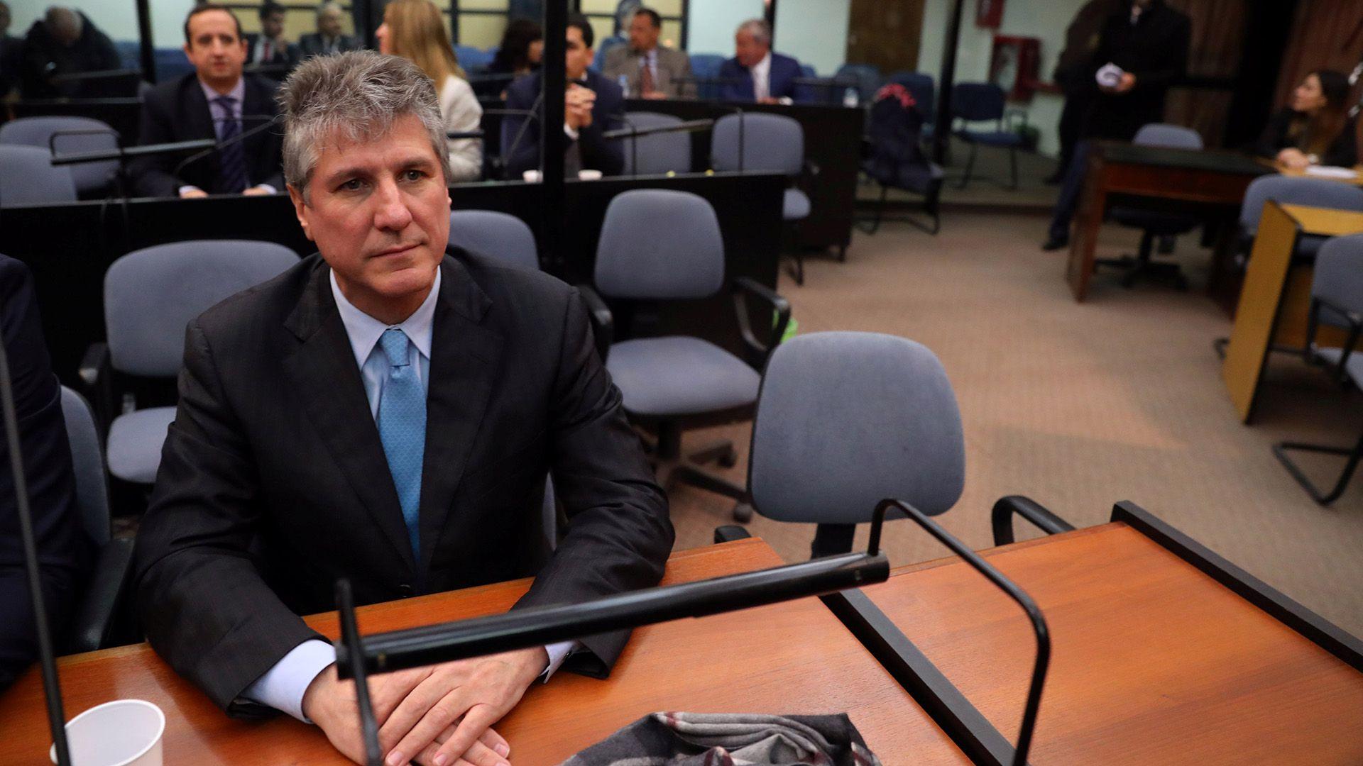 Amado Boudou durante el juicio (Reuters)