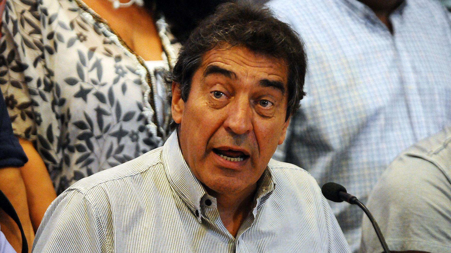"""Hugo """"Cachorro"""" Godoy, secretario de la Asociación de Trabajadores del Estado (ATE) en una foto de archivo (Télam)"""