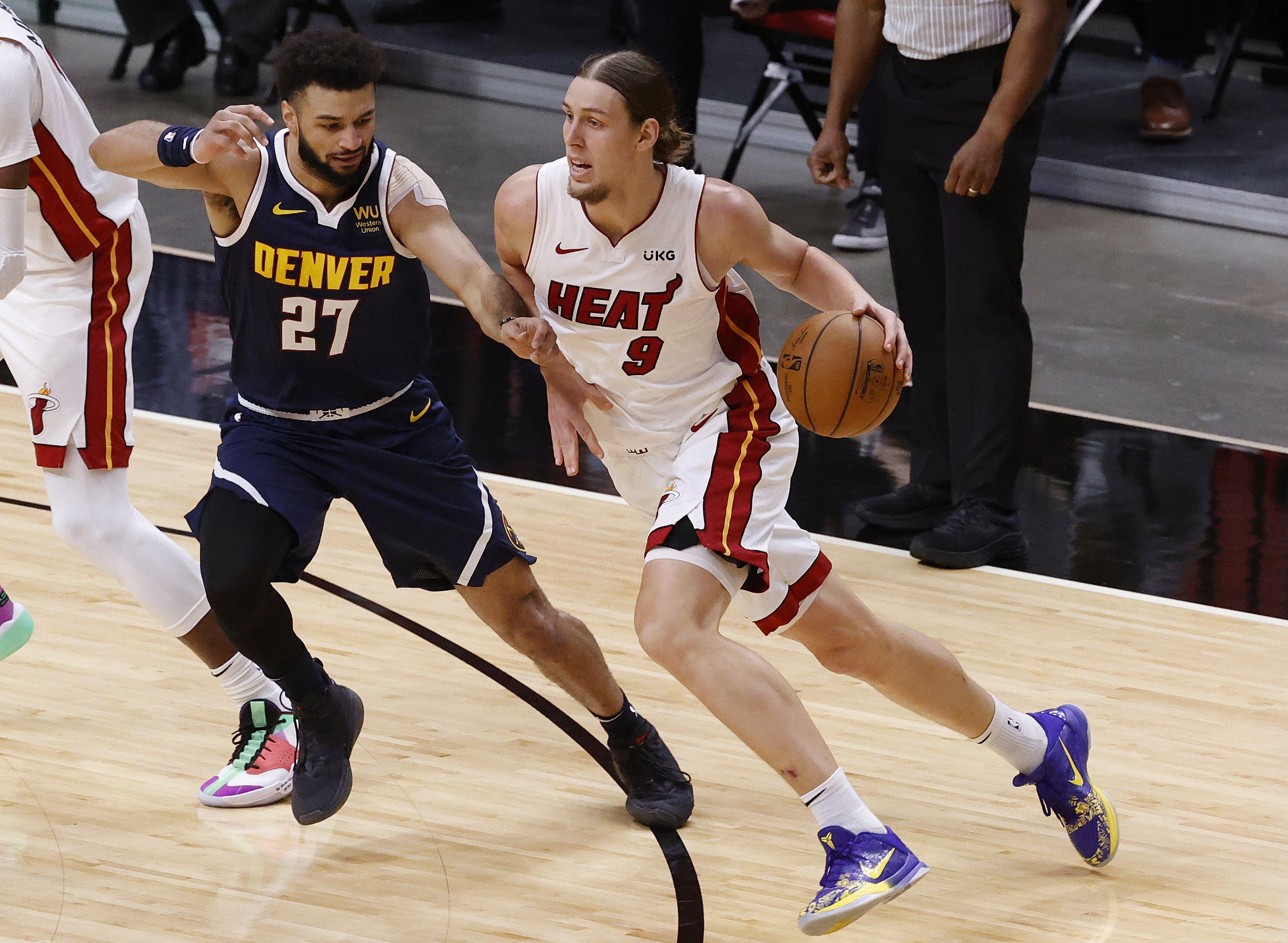 Denver Nuggets derrotó a Miami Heat y sumó su quinto triunfo al hilo (Mandatory Credit: Rhona Wise-USA TODAY Sports)