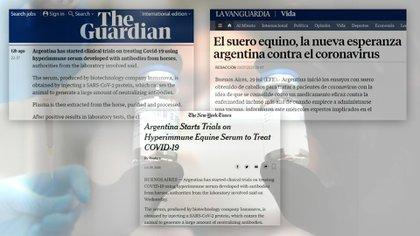 La noticia del suero hiperinmune equino como posible tratamiento para ser aprobada, en los medios mundiales, hace meses
