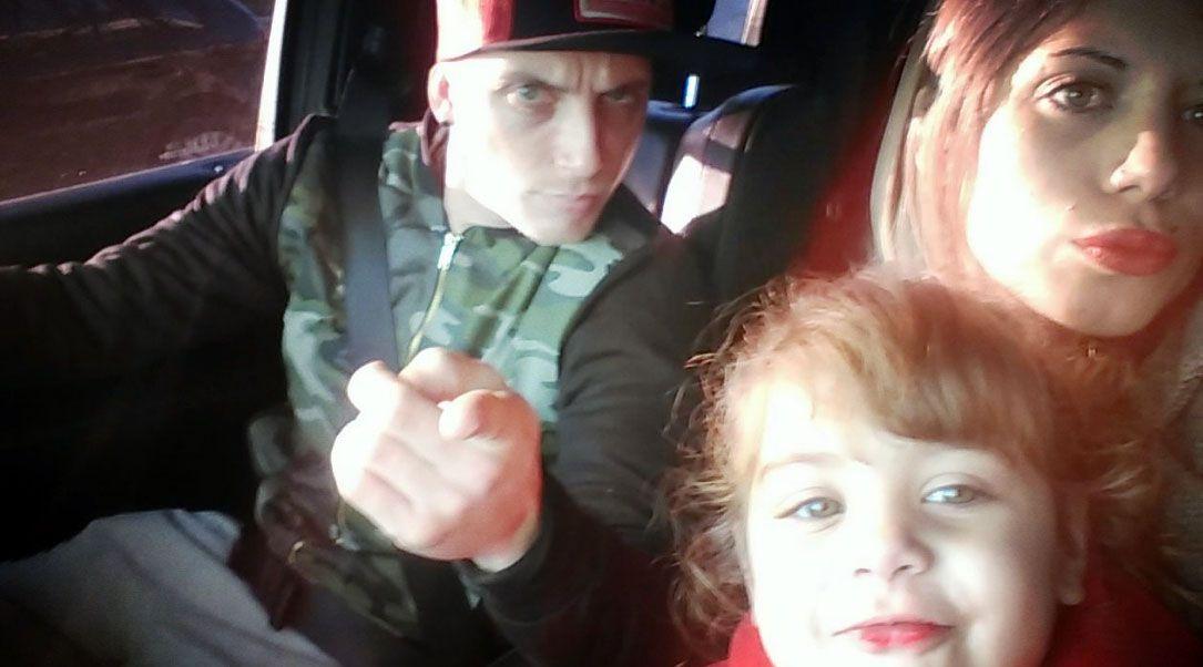 El Polaco con Valeria Aquino y su hija, Alma