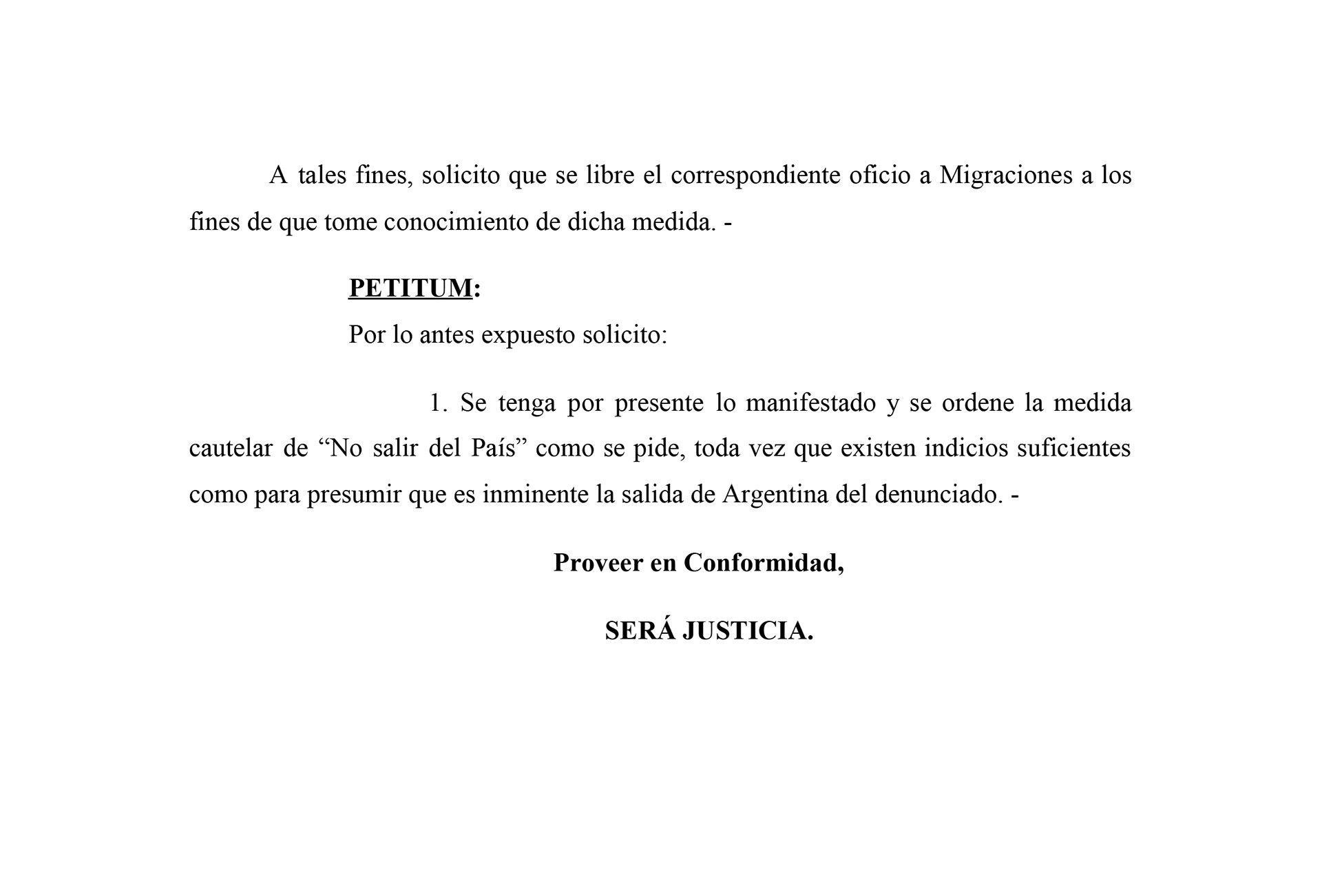 prohibición de salida del país a Cristian Pavón