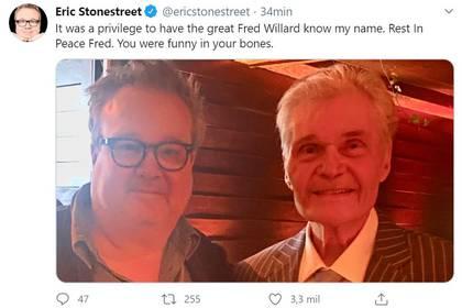 El tuit de despedida del actor de Modern Family, Eric Stonestreet