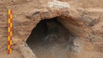 El hallazgo sucedió en Quillay, un sitio arqueológico ubicado en la zona central de Catamarca, a unos 40 km al norte de la ciudad de Belén (@CTyS_UNLaM)
