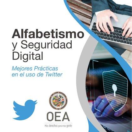"""""""Alfabetismo y seguridad digital"""" un manual elaborado por la OEA y Twitter."""