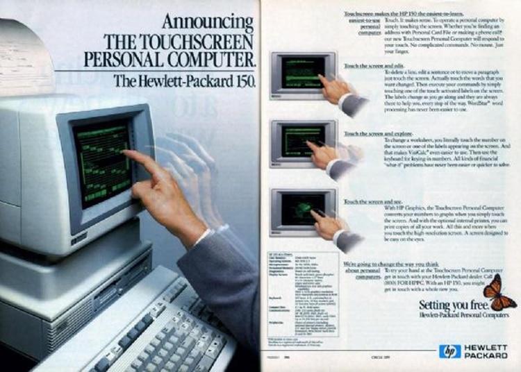 HP introdujo la primera computadora con pantalla táctil un año después de la Feria de Knoxville 82