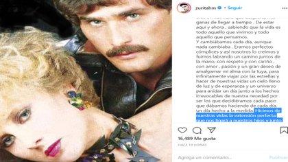 El actor ya había hecho una publicación en febrero 26, cuando fue el primer aniversario luctuoso de la actriz (Foto: Instagram @zuritahm)