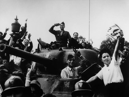 Una imagen de la liberación de París, agosto de 1944.