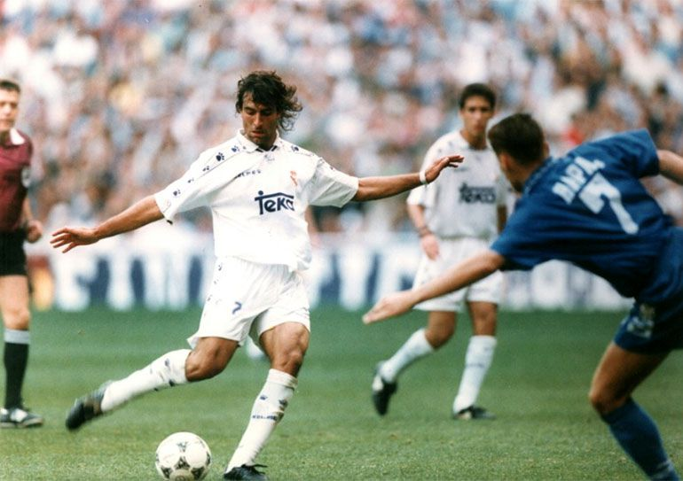 Con la casaca del Real Madrid, club al que arribó desde Ferro