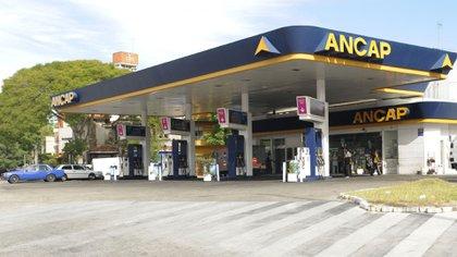 Una gasolinera de la empresa estatal uruguaya ANCAP